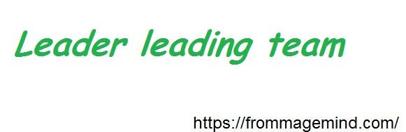leaderleading